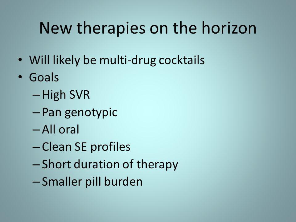 New therapies on the horizon