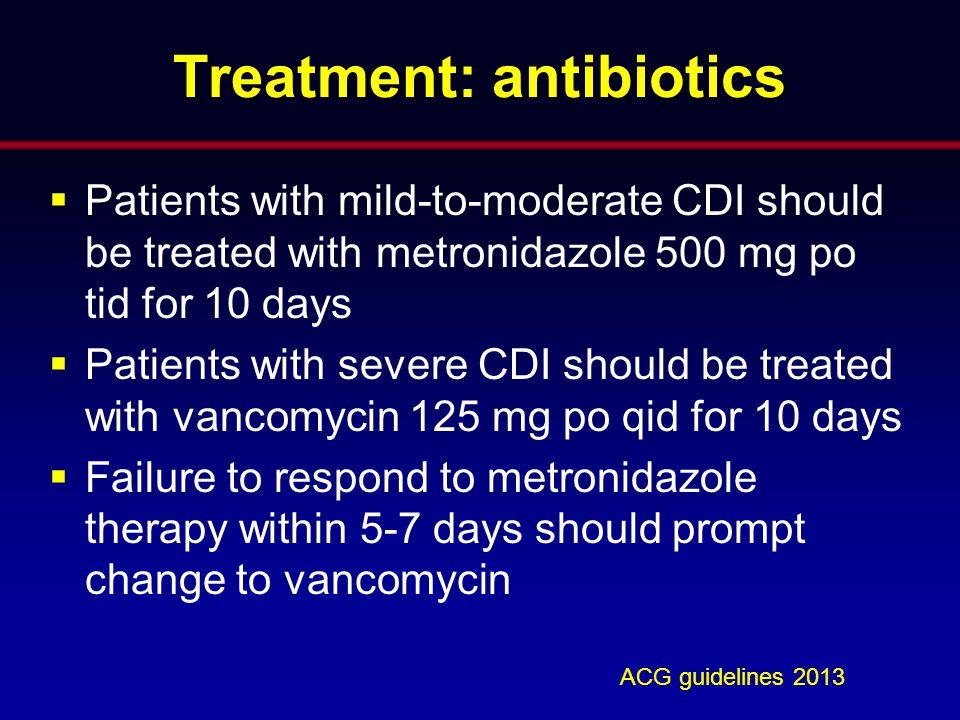 Treatment: antibiotics
