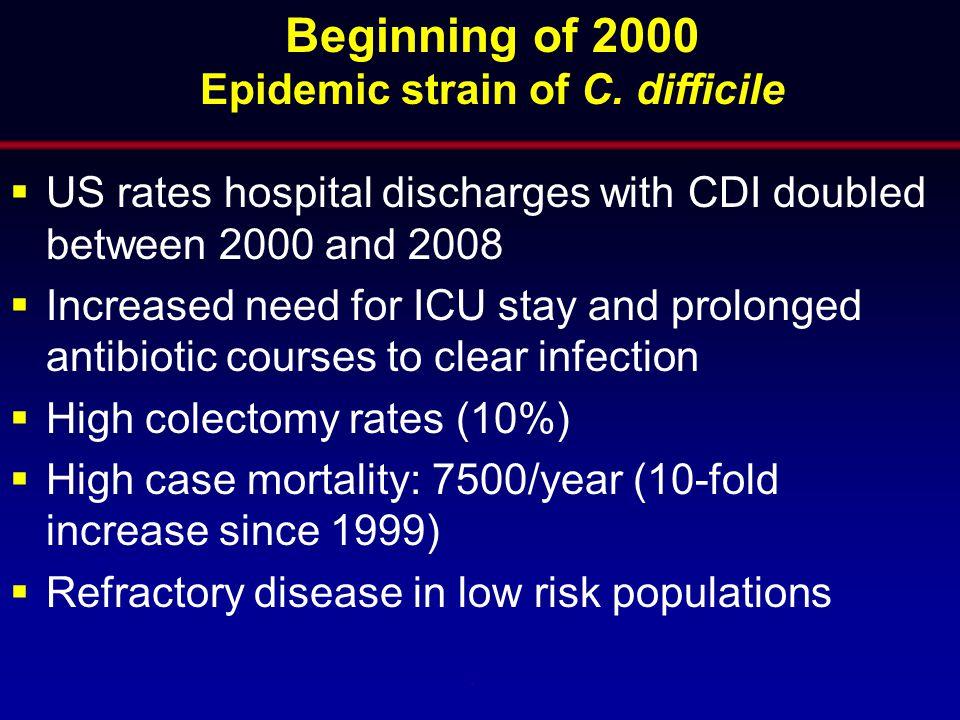 Epidemic strain of C. difficile