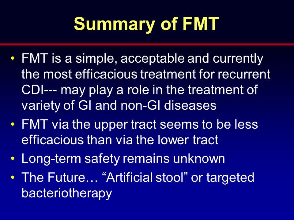 Summary of FMT