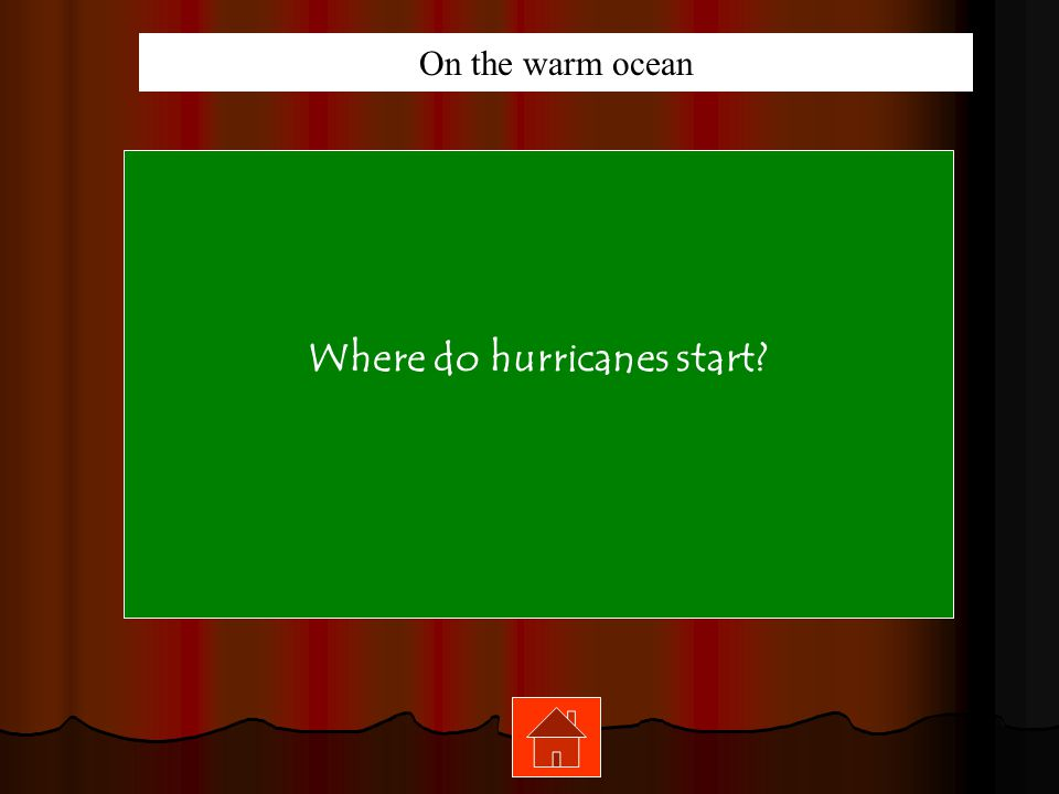 Where do hurricanes start