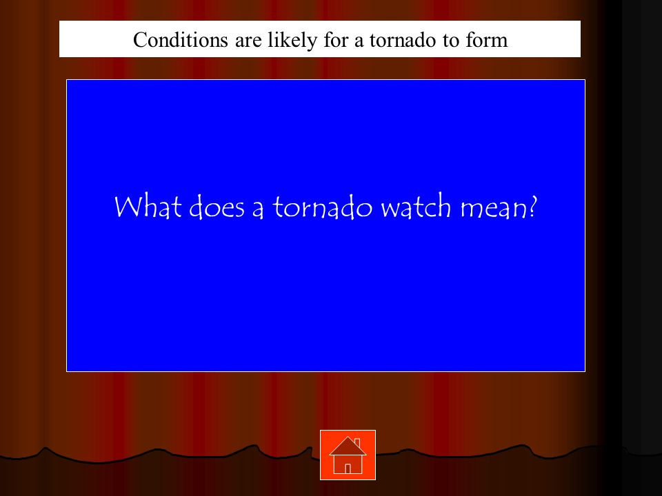 What does a tornado watch mean
