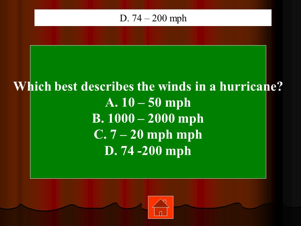 Which best describes the winds in a hurricane