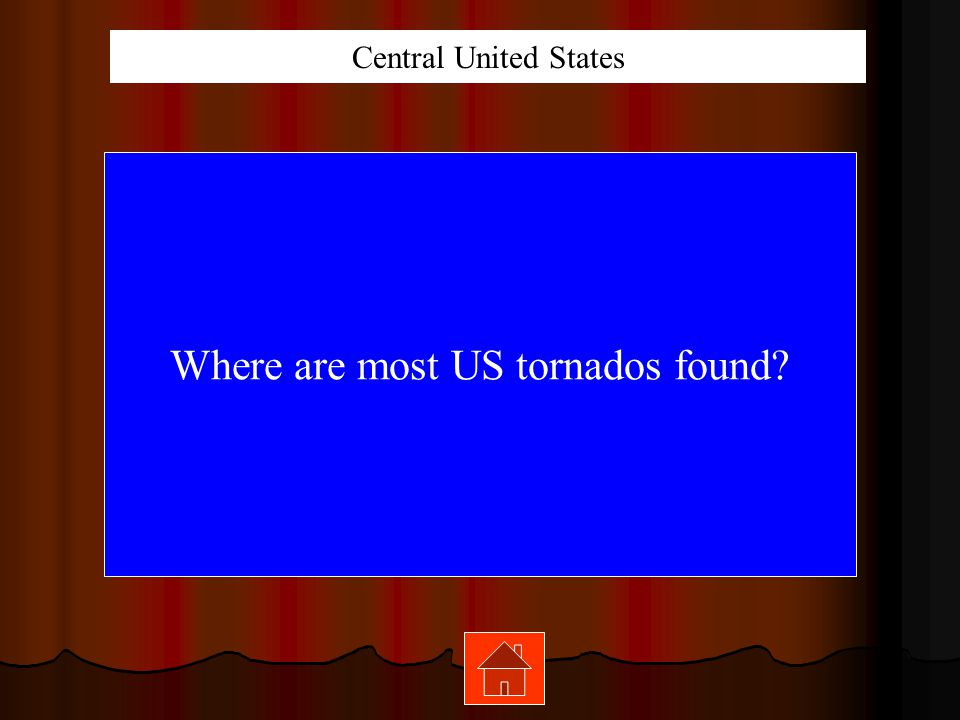 Where are most US tornados found