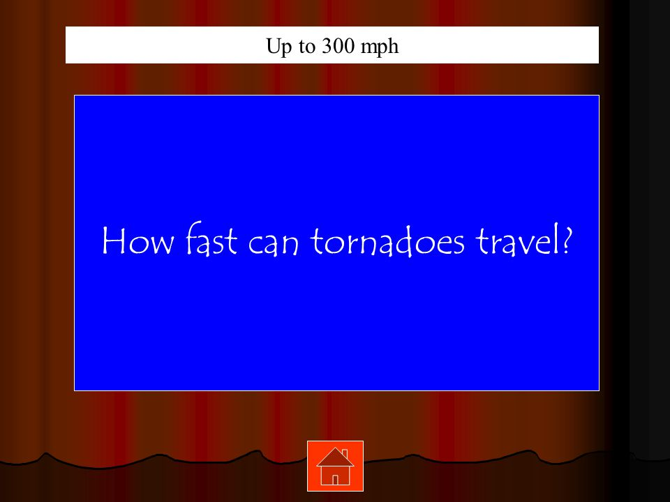 How fast can tornadoes travel