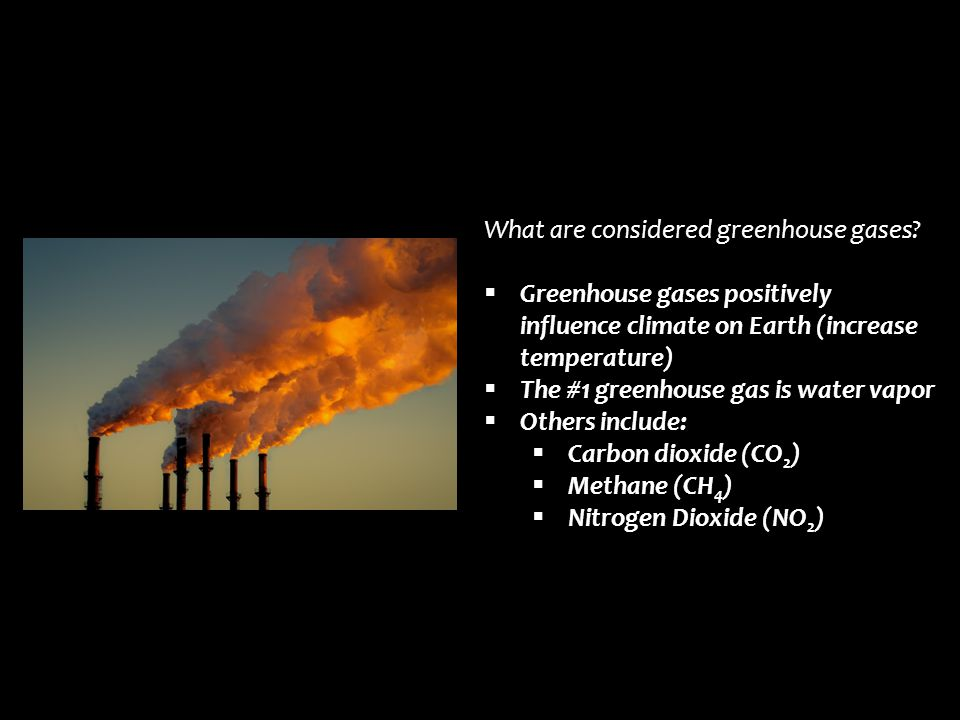 What are considered greenhouse gases
