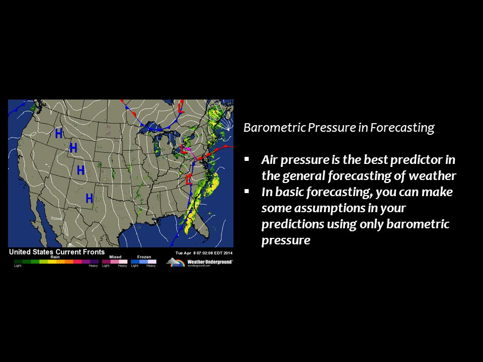 Barometric Pressure in Forecasting