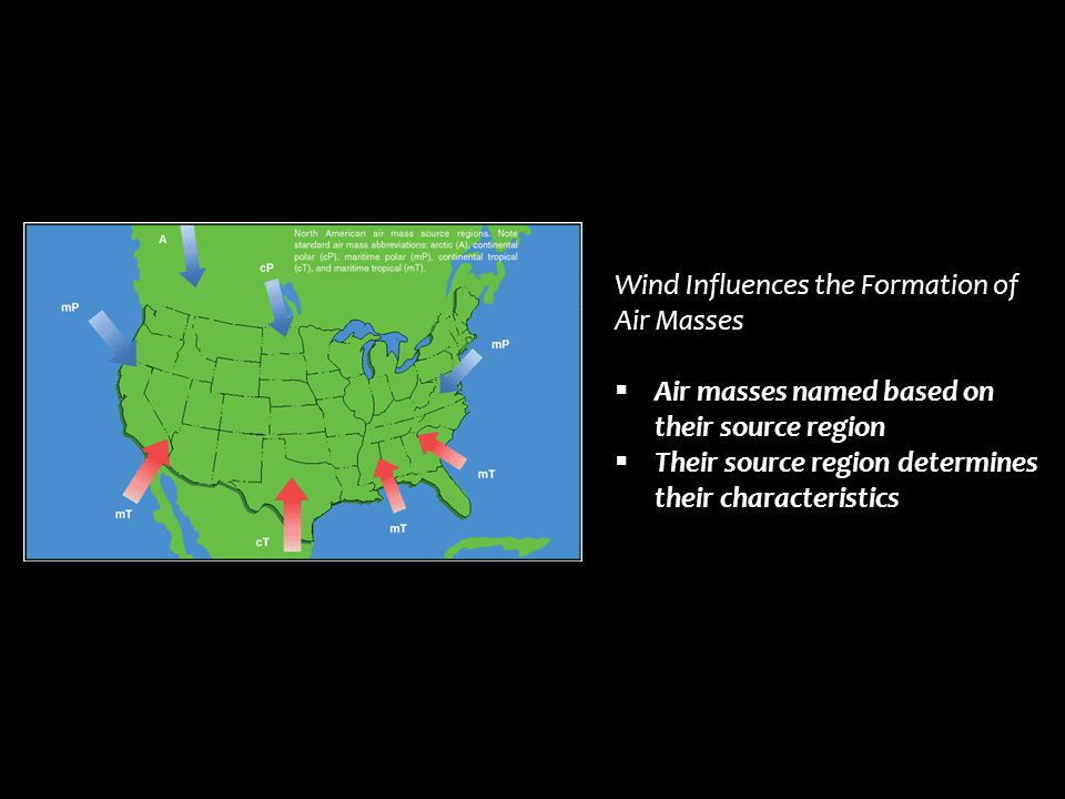 Wind Influences the Formation of Air Masses