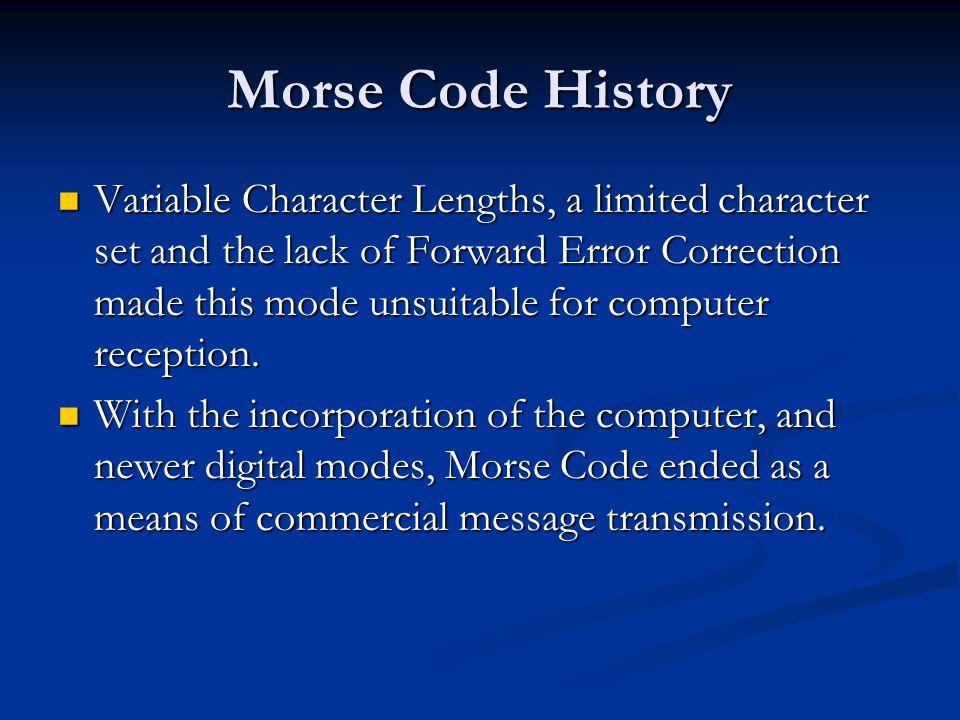Morse Code History