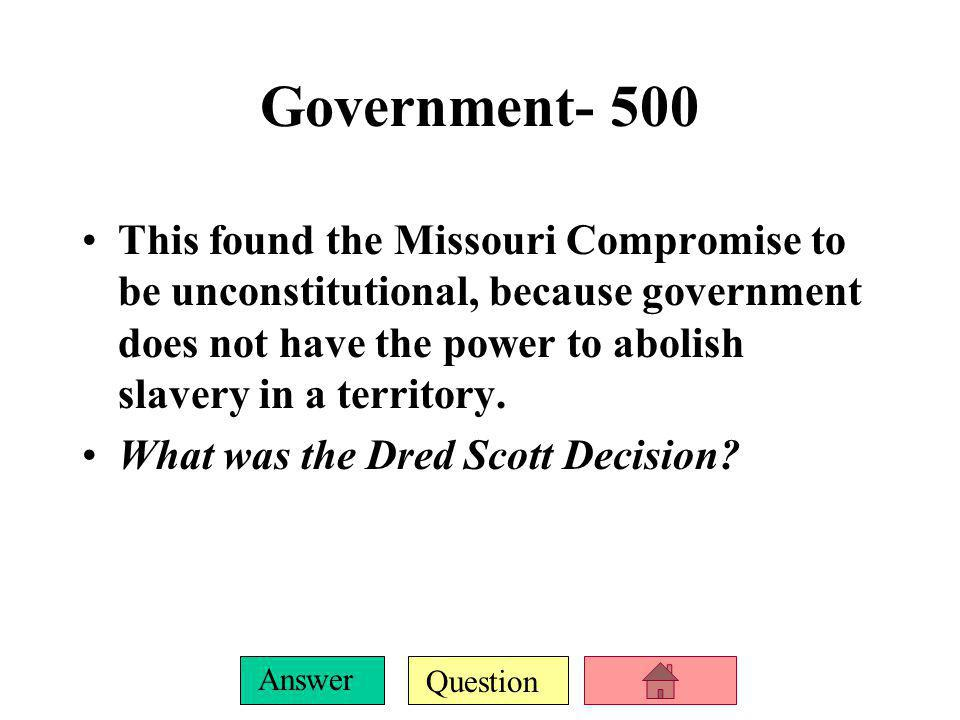 Government- 500