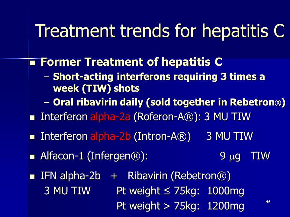 Treatment trends for hepatitis C