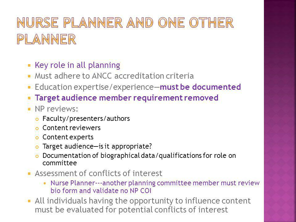 Nurse planner and one other planner