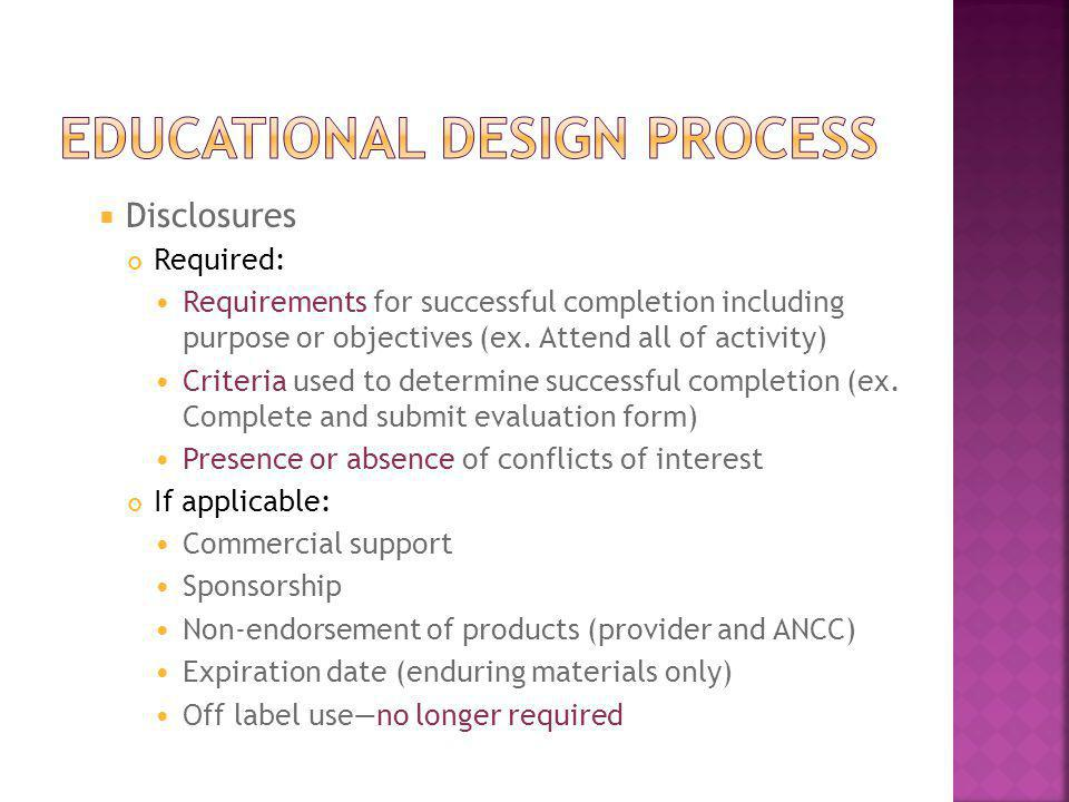 Educational design process