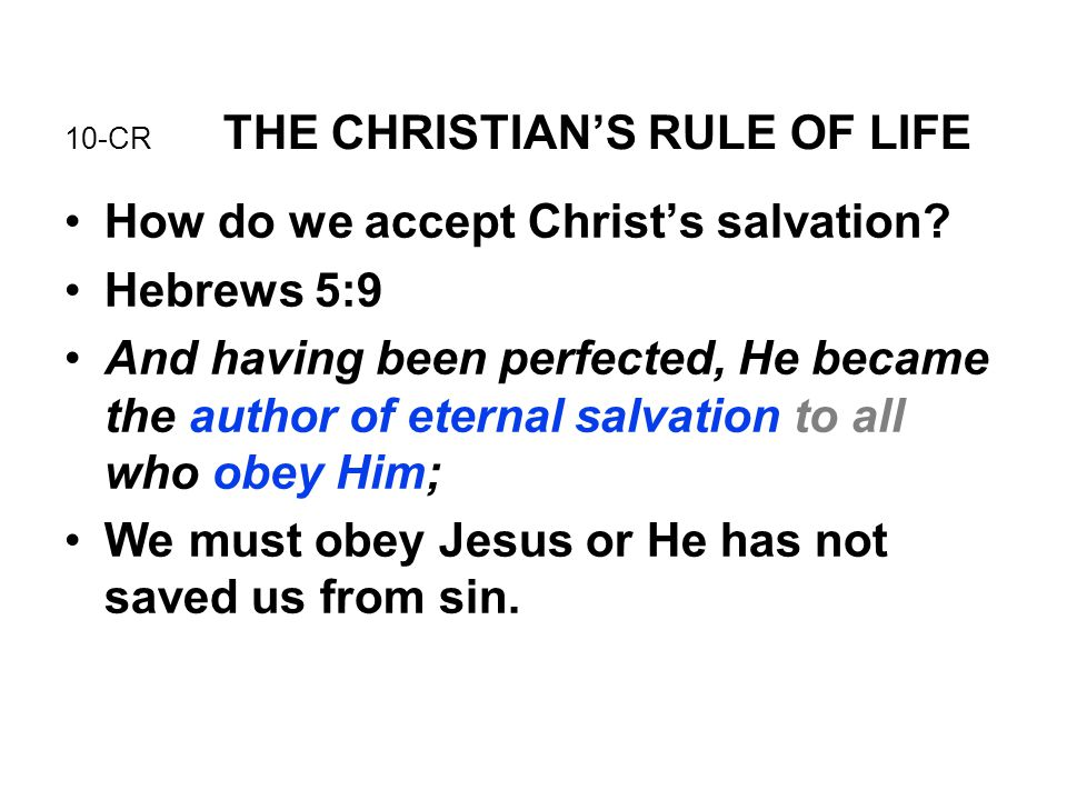 10-CR THE CHRISTIAN'S RULE OF LIFE