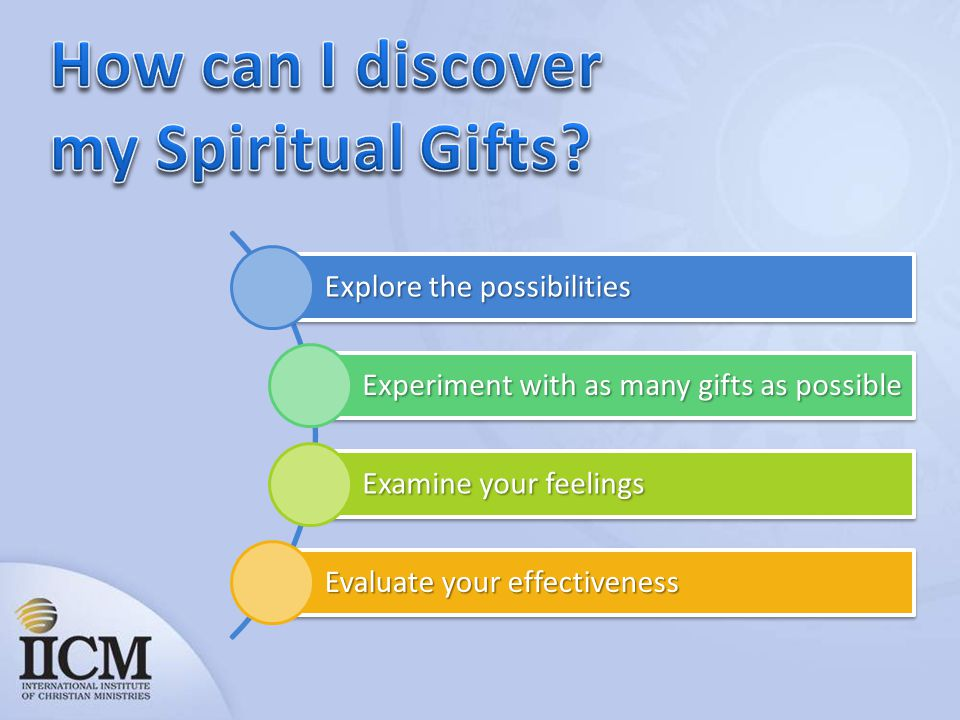 How can I discover my Spiritual Gifts