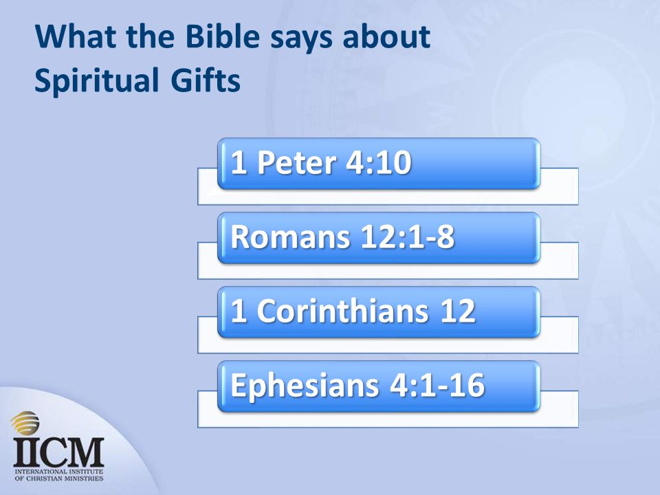 What the Bible says about Spiritual Gifts
