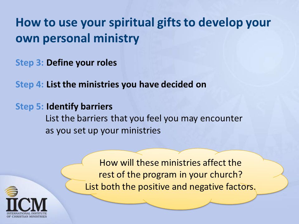 How to use your spiritual gifts to develop your own personal ministry