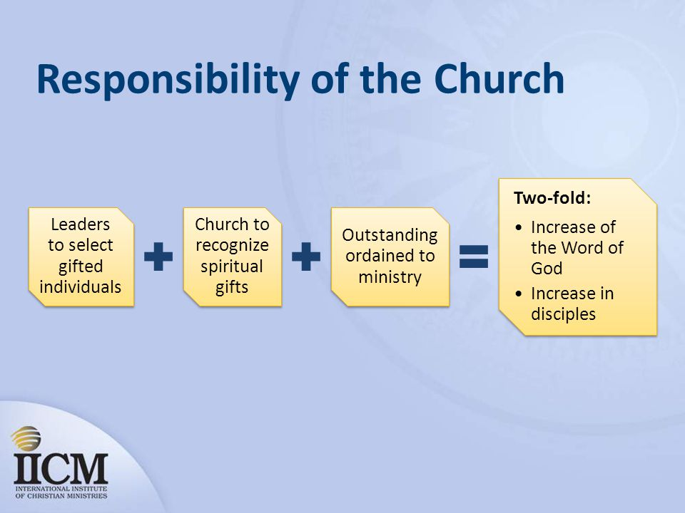 Responsibility of the Church