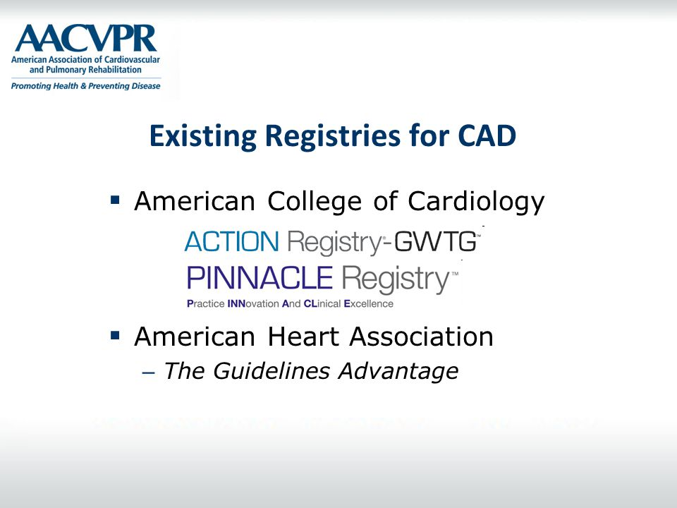 Existing Registries for CAD