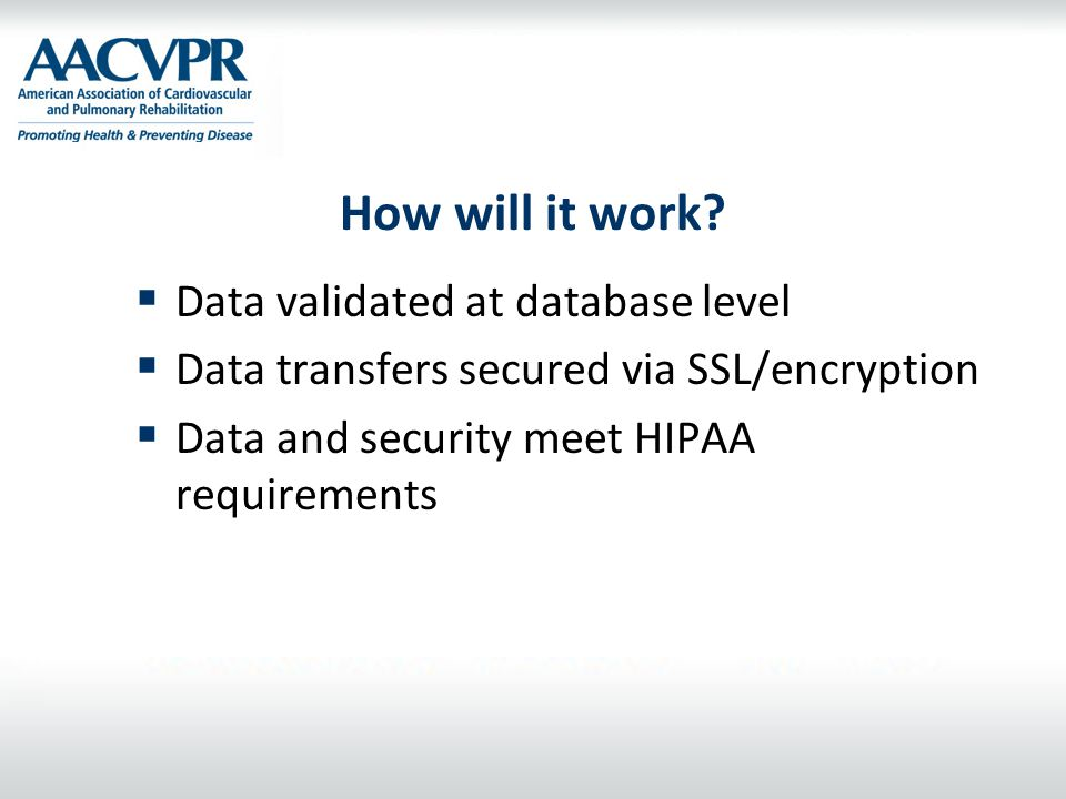 How will it work Data validated at database level
