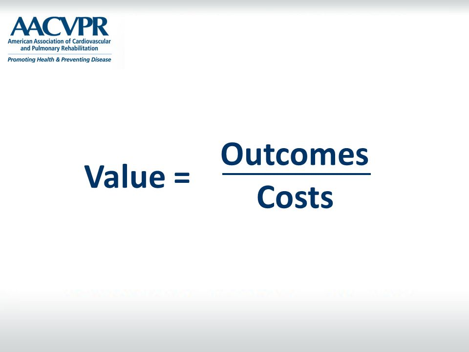 Outcomes Value = Costs.