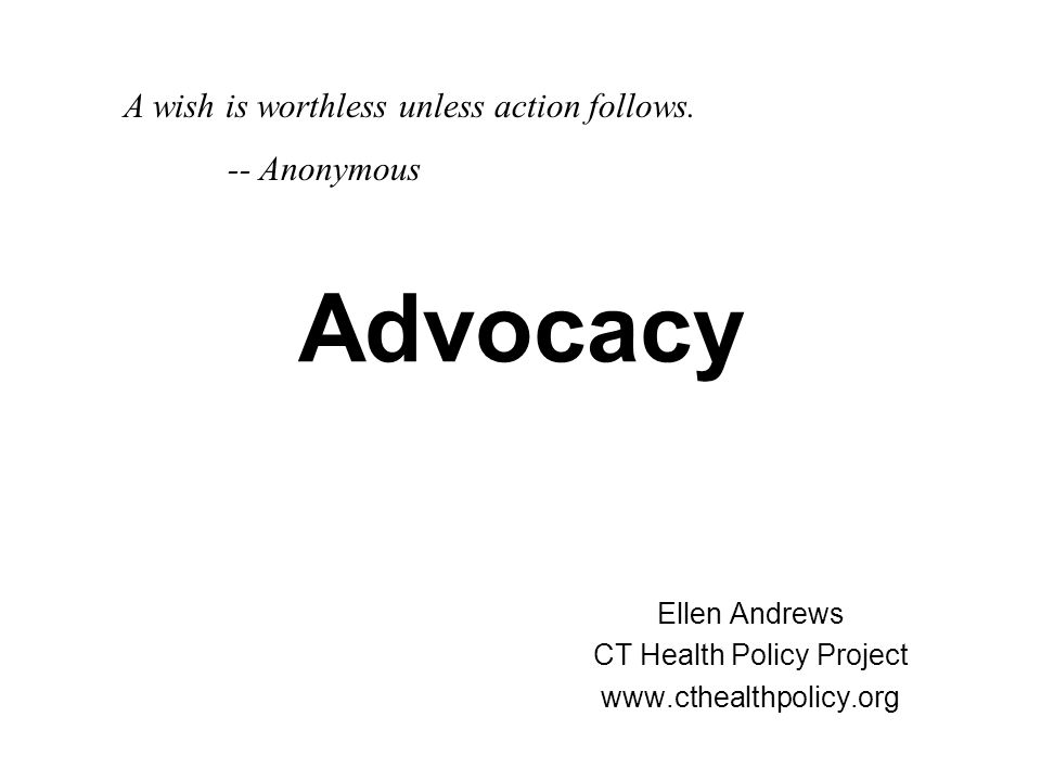 Ellen Andrews CT Health Policy Project www.cthealthpolicy.org