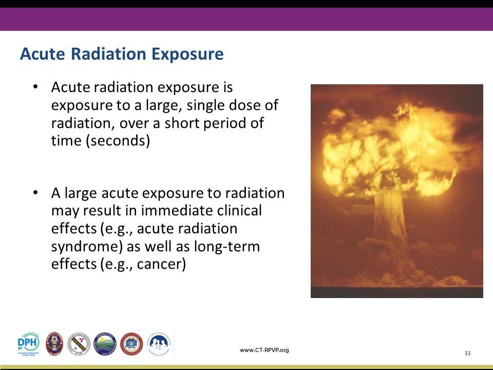 Acute Radiation Exposure