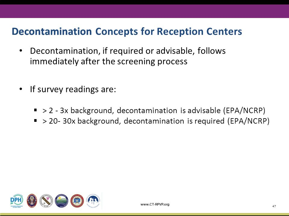 Decontamination Concepts for Reception Centers Decontamination
