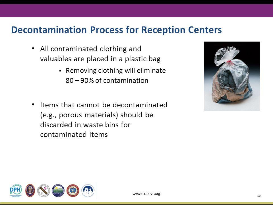 Decontamination Process for Reception Centers