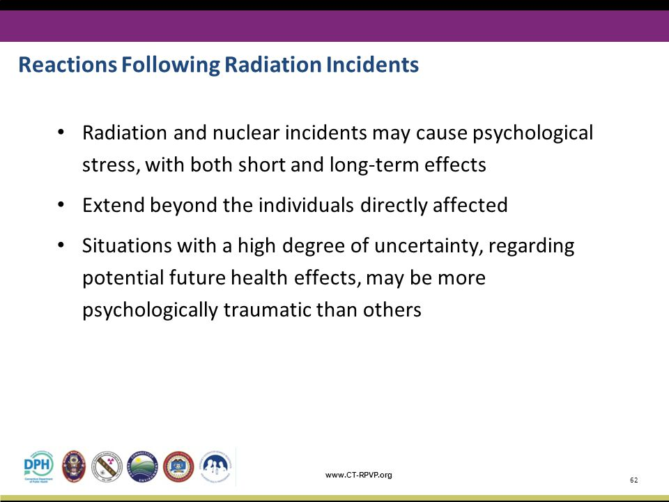 Reactions Following Radiation Incidents