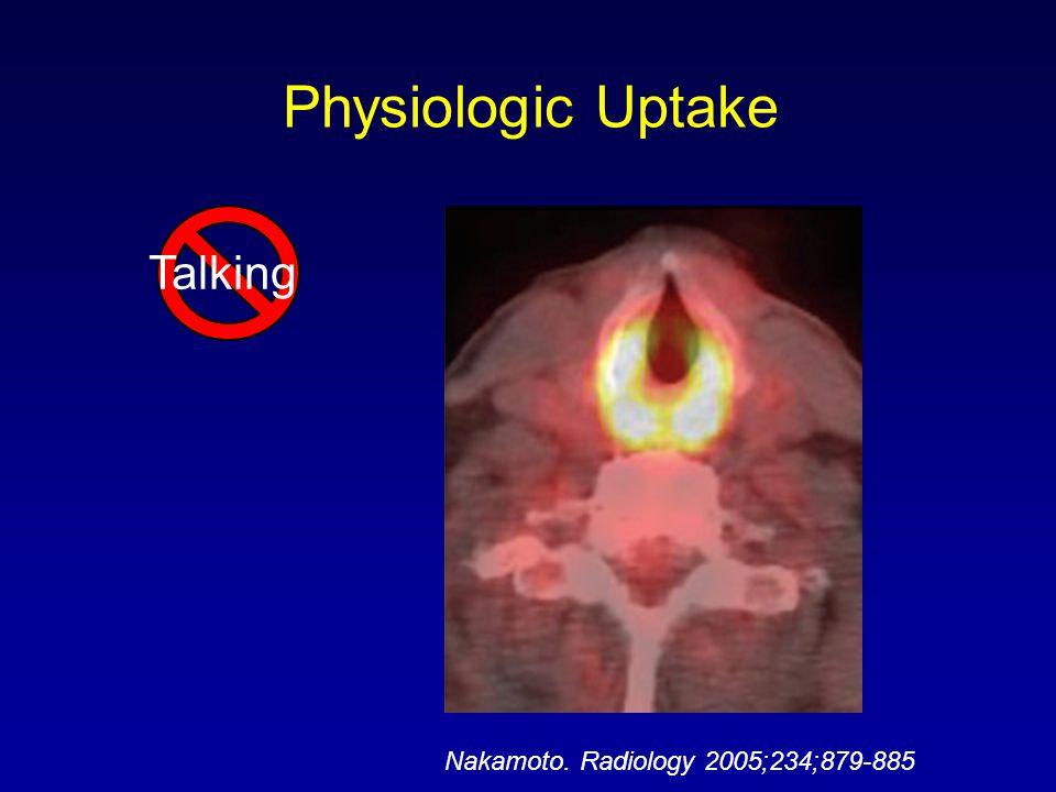 Physiologic Uptake Talking Nakamoto. Radiology 2005;234;879-885