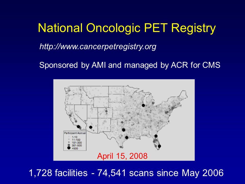 National Oncologic PET Registry