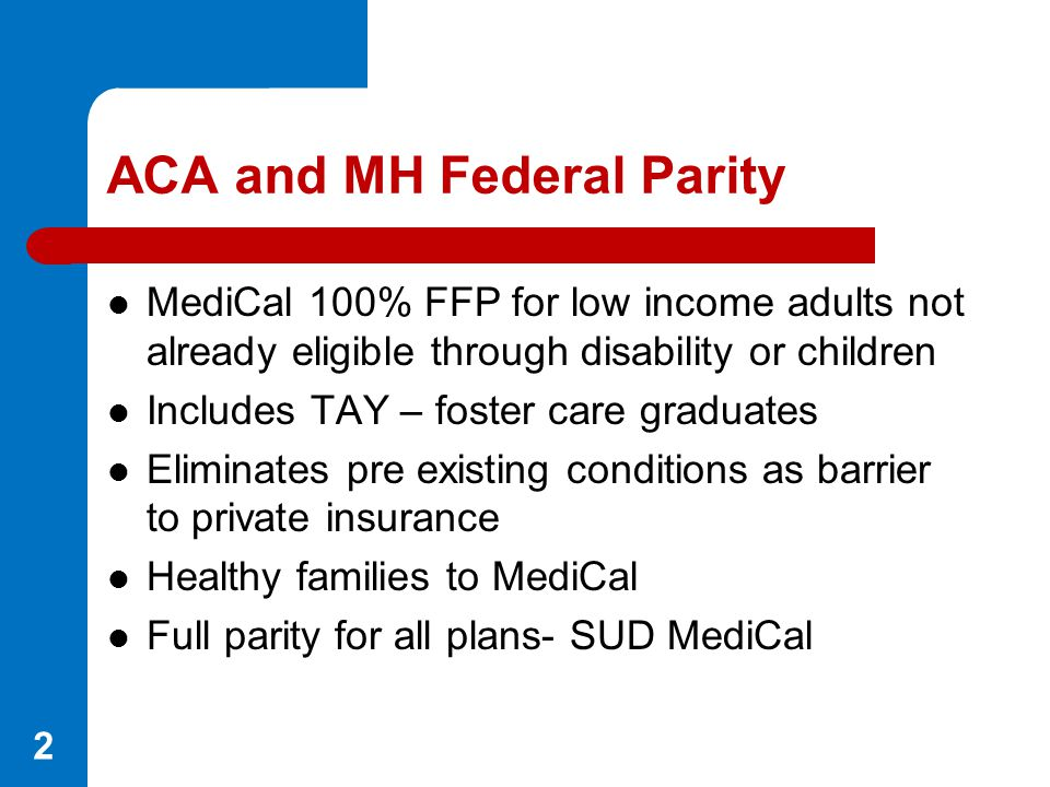 ACA and MH Federal Parity