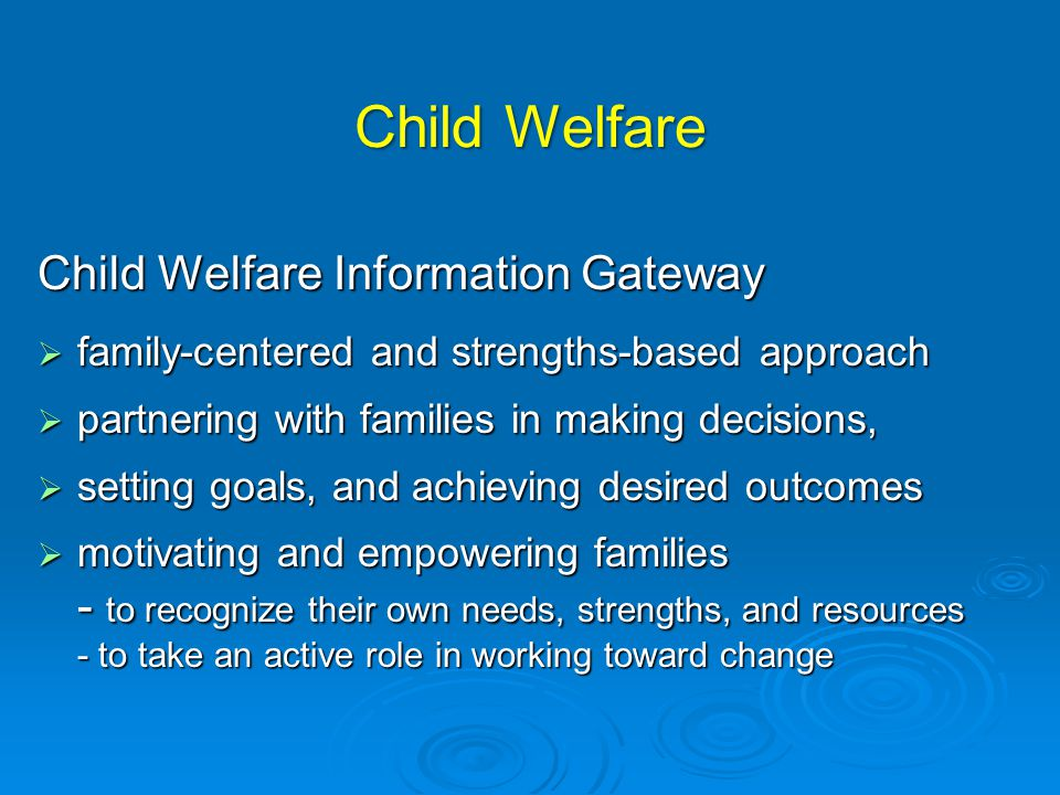 Child Welfare Child Welfare Information Gateway