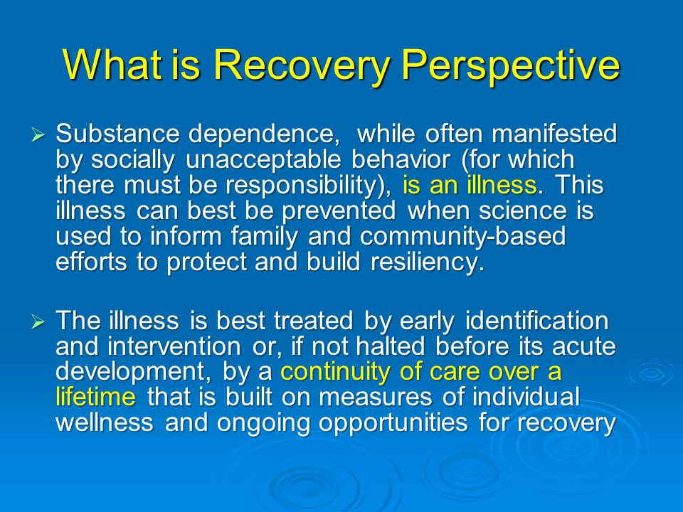 What is Recovery Perspective