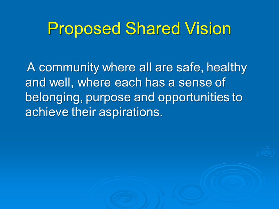 Proposed Shared Vision