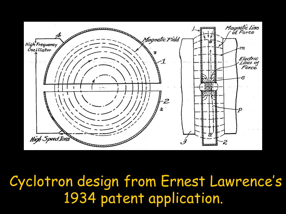 Cyclotron design from Ernest Lawrence's
