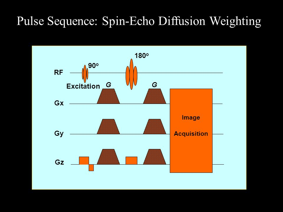 Pulse Sequence: Spin-Echo Diffusion Weighting