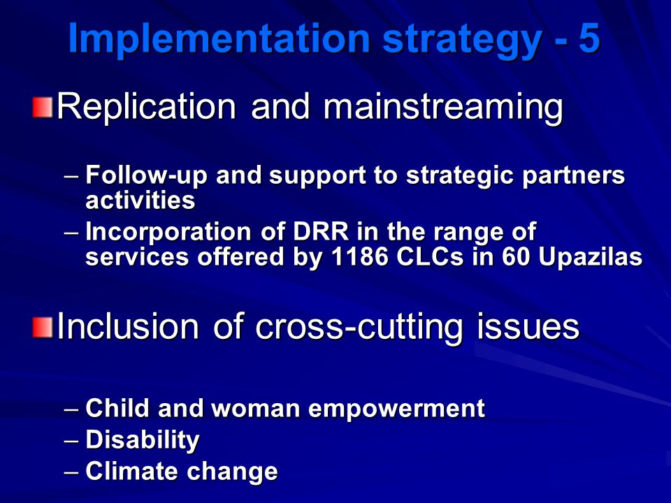 Implementation strategy - 5