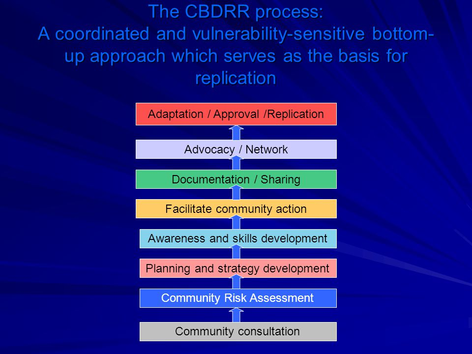 The CBDRR process: A coordinated and vulnerability-sensitive bottom-up approach which serves as the basis for replication