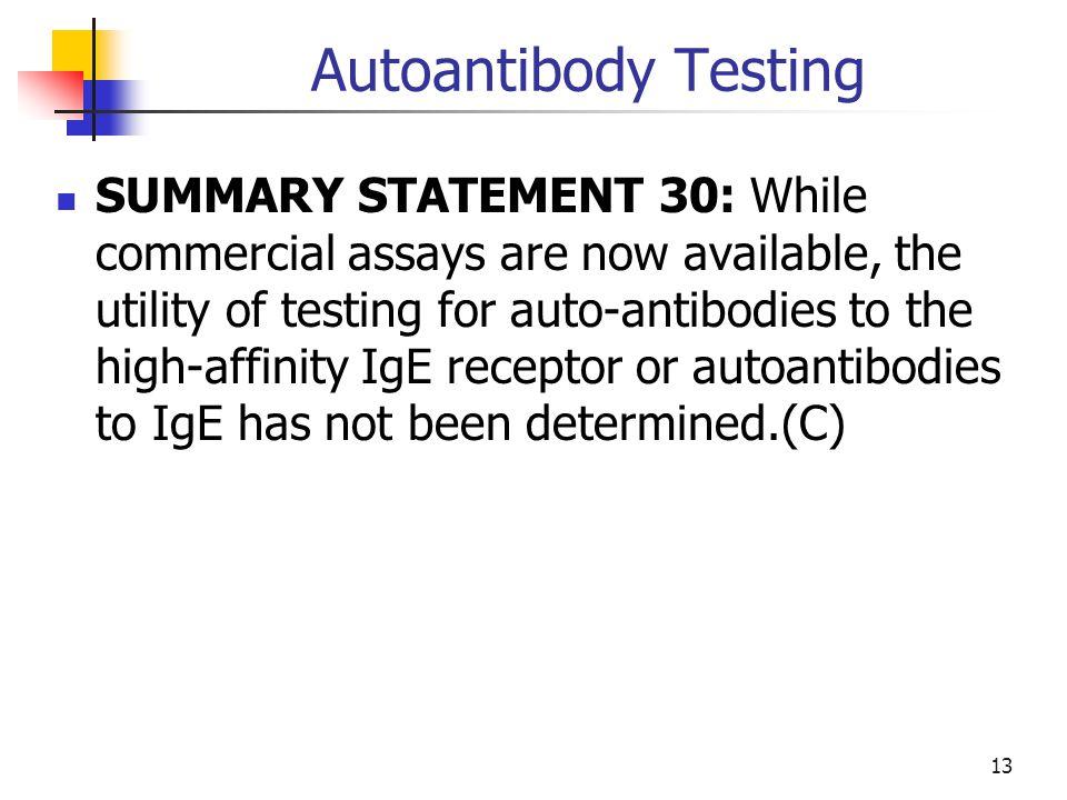 Autoantibody Testing