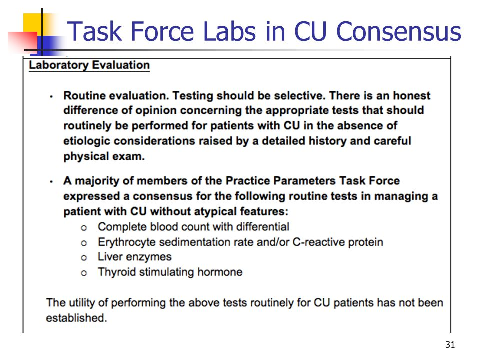 Task Force Labs in CU Consensus