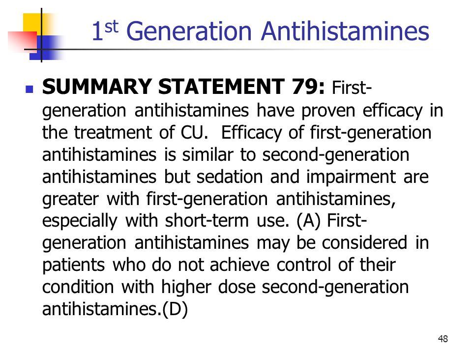 1st Generation Antihistamines