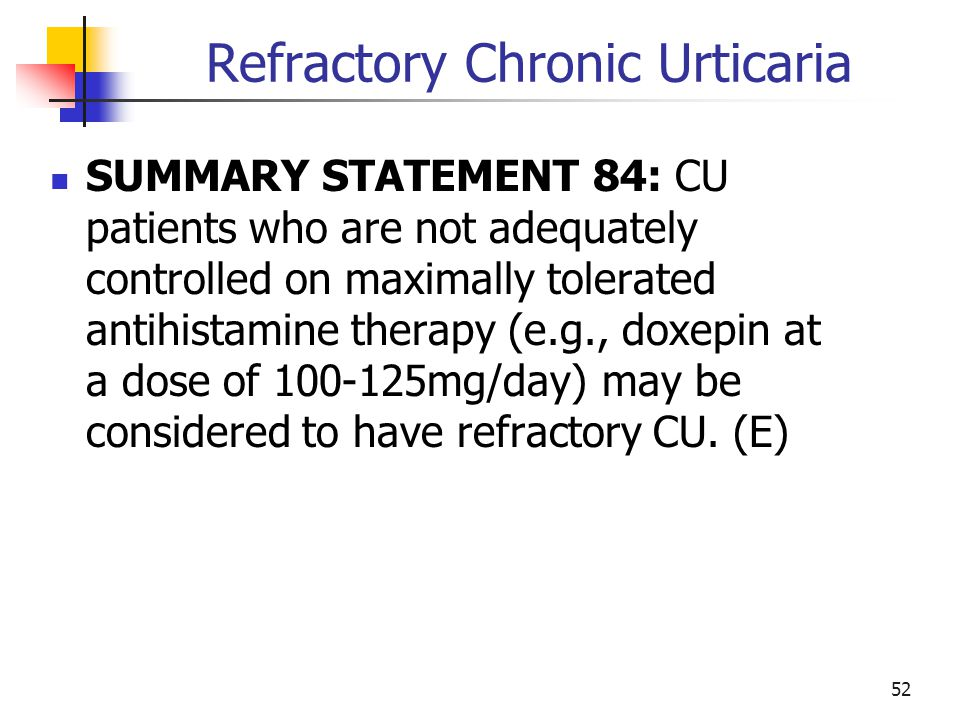 Refractory Chronic Urticaria