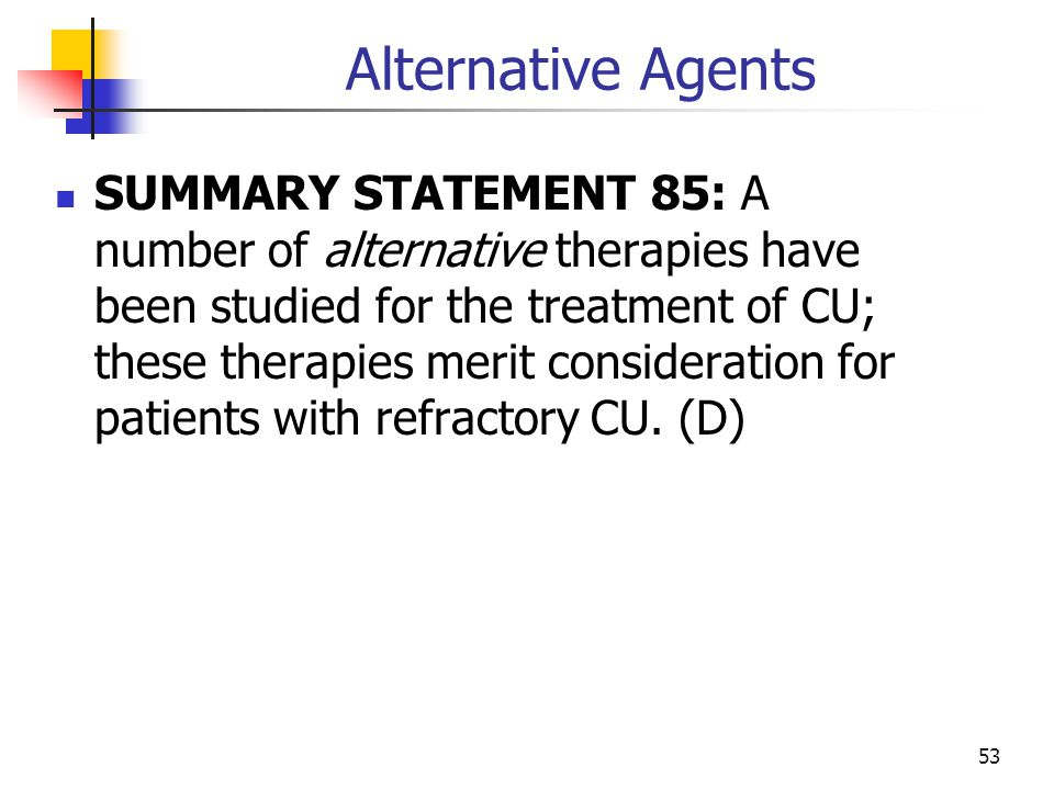 Alternative Agents