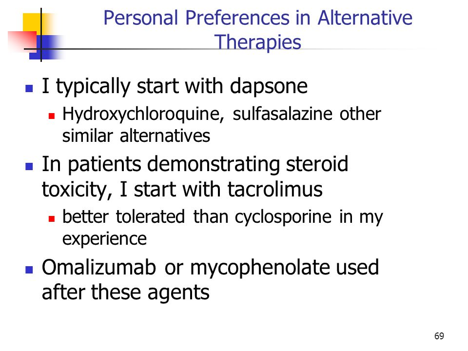 Personal Preferences in Alternative Therapies