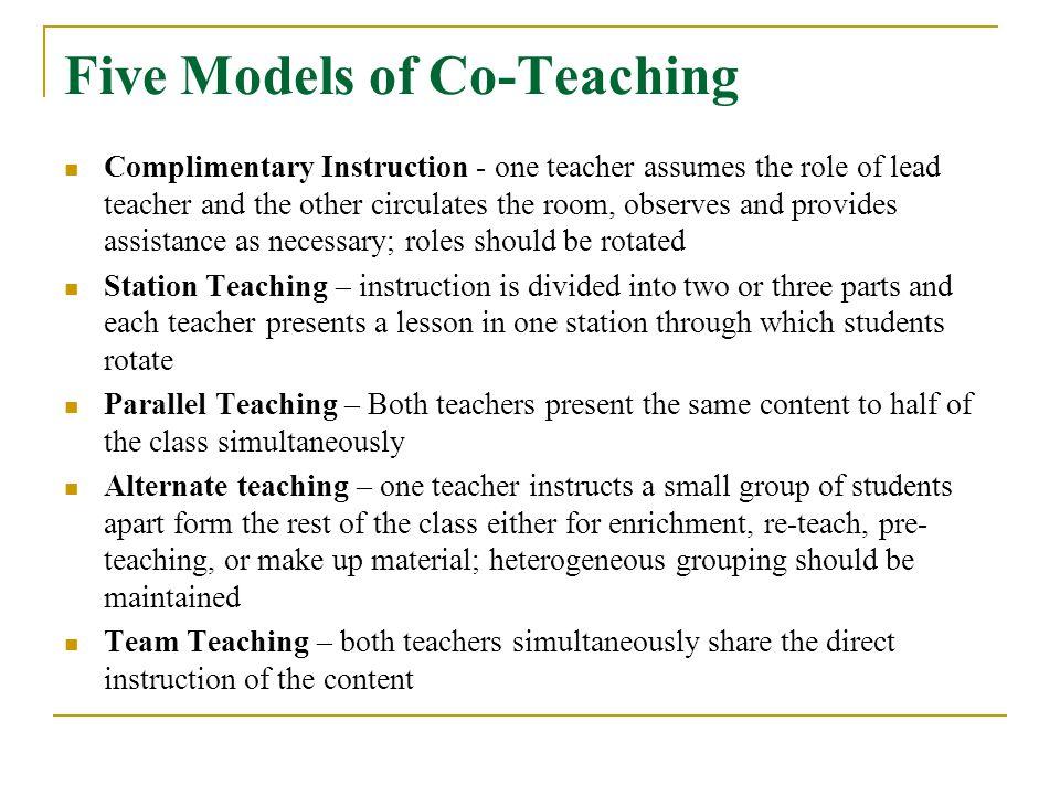Five Models of Co-Teaching