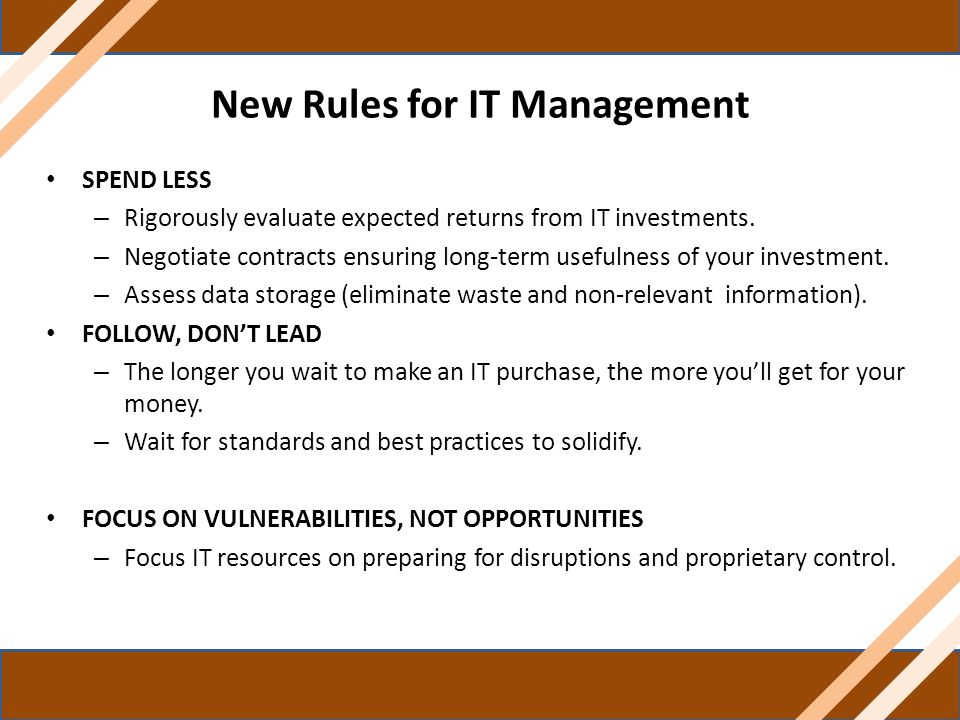 New Rules for IT Management