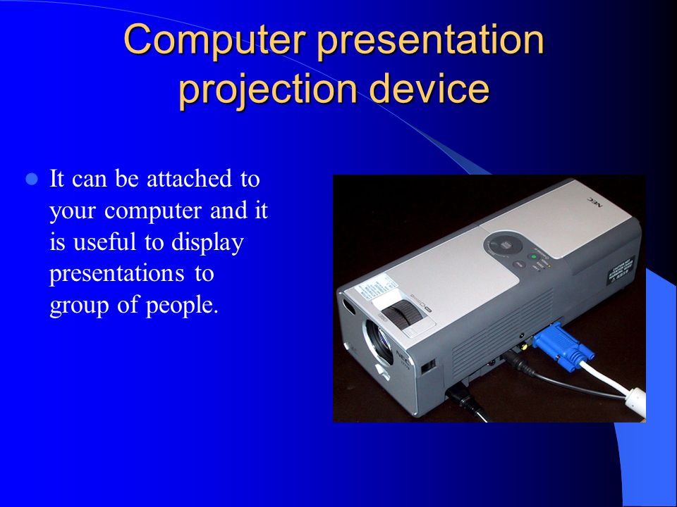 Computer presentation projection device