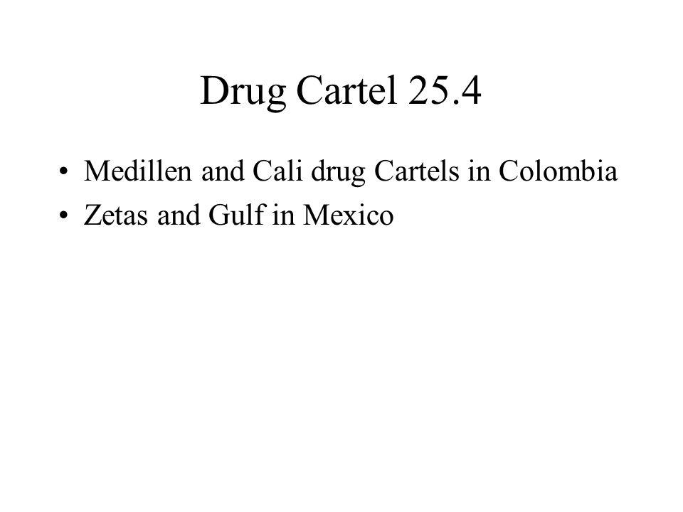 Drug Cartel 25.4 Medillen and Cali drug Cartels in Colombia